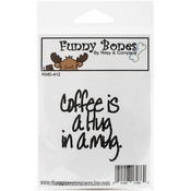 Coffee Is A Hug Funny Bones Cling Mounted Stamp - Riley & Company