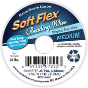 "Silver - Soft Flex Wire 49-Strand .019""X10'"