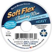 "Silver - Soft Flex Wire 49-Strand .024""X10'"