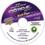 "Silver - Extreme Flex Wire 19-Strand .014""X10'"