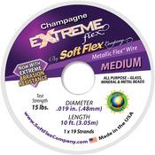 "Champagne - Extreme Flex Wire 19-Strand .019""X10'"