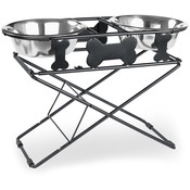 Multi - Level Adjustable Diner 3-Tiers - Black Wrought Iron