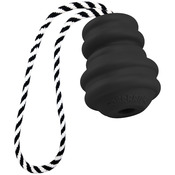 "Multipet Gorrrrilla Tough Rubber Treat Toy W/Rope 4.5""-Black"