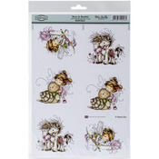 "Beau & Bashful - Wee Stamps Topper Sheet 8.3""X12.2"""