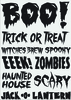 Boo Halloween Rub-ons - Little B