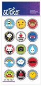 Bottlecap Words & Icons Classic Stickers - Sticko Stickers