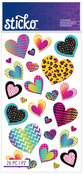 Patterned Hearts Classic Stickers - Sticko Stickers