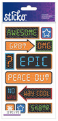 Boy Icons & Words Classic Stickers - Sticko Stickers