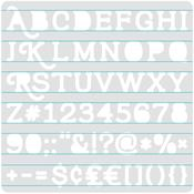 Serif Stencil - Heatwave - We R Memory Keepers
