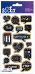Chalk Quotes Classic Stickers - Sticko Stickers