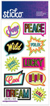 Neon Words Classic Stickers - Sticko Stickers