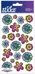 Doodle Flowers Classic Stickers - Sticko Stickers