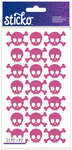 Pink Metallic Skulls Classic Stickers - Sticko Stickers