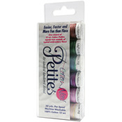 Sulky Sampler 12wt Cotton Petites 6/Pkg-2nd Most Popular Assortment