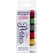 Sulky Sampler 12wt Cotton Petites 6/Pkg - Christmas Collection Assortment