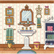 """Victorian Sink Counted Cross Stitch Kit-10""""X10"""" 14 Count"""