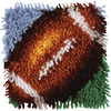Wonderart Latch Hook Kit 8 X8 -Football Spinrite-Wonderart Latch Hook Kit. These extra shaggy rugs are wonderfully lush and can be made to fit any decor motif. The possibilities are astounding, you can use them on the floor, wall, sofa, bed, window or even make them into pillows and seat cushions. They are easy to make, it would be a wonderful family project! This package contains color coded canvas (50% polyester/50% cotton), pre-cut acrylic rug yarn, a chart and instructions. Hook tool and finishing materials are not included. Finished Size: 8x8 inches. Design: Football. Made in USA.