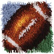 "Wonderart Latch Hook Kit 8""X8""-Football"
