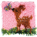 "Wonderart Latch Hook Kit 8""X8""-Little Fawn"