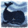 Wonderart Latch Hook Kit 12 X12 -Big Blue Whale Spinrite-Wonderart Latch Hook Kit. These extra shaggy rugs are wonderfully lush and can be made to fit any decor motif. The possibilities are astounding, you can use them on the floor, wall, sofa, bed, window or even make them into pillows and seat cushions. They are easy to make, it would be a wonderful family project! This package contains color coded canvas (50% polyester/50% cotton), pre-cut acrylic rug yarn, a chart and instructions. Hook tool and finishing materials are not included. Finished Size: 12x12 inches. Design: Big Blue Whale. Made in USA.