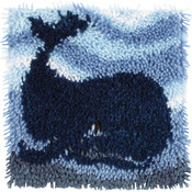 "Wonderart Latch Hook Kit 12""X12""-Big Blue Whale"