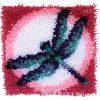 "Wonderart Latch Hook Kit 12""X12""-Dragon Fly"