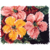 "Wonderart Latch Hook Kit 15""X20""-Brilliant Blossoms"