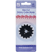 Rotary Cutter Blade Refill-45mm Wide Skip Cut 1/Pkg