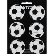 "C&D Visionary Patch - Soccer Ball 2"" Round 6/Pkg"