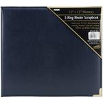 "Sewn Cover 3 Ring Album 12""X12""-Navy Blue Oxford"