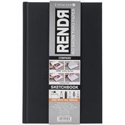 "RendR No Show Thru Hard Bound Sketch Book 5.5""X8.5""-48 Sheets"