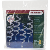 """Holiday Beaded Ornament Kit - Crystal Spirals 6.5"""" Makes 8"""