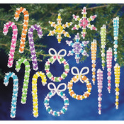 Holiday Beaded Ornament Kit Collection - Candy Colors Makes 96