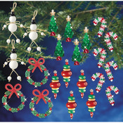 Holiday Beaded Ornament Kit Collection - New Traditional Makes 100