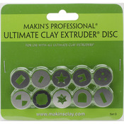 Makin's Professional Ultimate Clay Extruder Discs 10 Pack -Set D