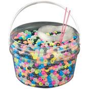 Glow Multicolor Kandi Kids Pony Bead Bucket Kit