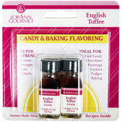 Candy & Baking Flavoring .125oz Bottle 2/Pkg - English Toffee