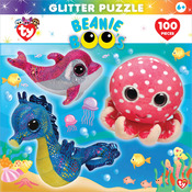 """Jigsaw Puzzle Ty Beanie Boo Glitter 100pc 15""""X11.5""""-Ocean Club"""
