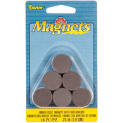 "Round Magnets W/Foam Adhesive -.75"" 18/Pkg"