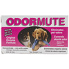 Odormute 3oz - Unscented Hueter Toledo-Odormute: Unscented. A blend of natural enzymes that will eliminate any organic odor! In powder form, odor mute is easy to store and handle. Maintains full strength for up to 5 years. As a powdered concentrate, mix odor mute to the desired strength to eliminate odor in kennels, on carpets, fabrics, clothing, upholstery, furniture or anywhere there is a pet odor. This package contains 3oz of odormute. Makes up to 4 gallons of liquid. Non- toxic. Made in USA.