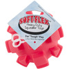 Soft Flex Bumpy Ball 4 inches -Red Hueter Toledo-Soft Flex Bumpy Ball: Red. The perfect heavy duty squeaker toy for your dog! Contains one 4 inch round soft flex bumpy ball with a built in squeaker. Designed for interactive play, not as a chew toy. Imported.