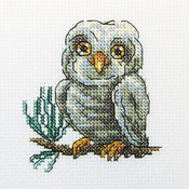 "Owlet Counted Cross Stitch Kit-4""X4"" 14 Count"