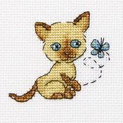 "Playful Lolla Counted Cross Stitch Kit-3.25""X3.25"" 14 Count"