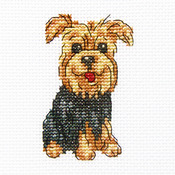 "Cheerful Archie Counted Cross Stitch Kit-3.5""X3.5"" 14 Count"