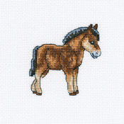 "Dutch Horse Counted Cross Stitch Kit-4""X4"" 14 Count"