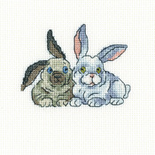 "Brer Rabbits Counted Cross Stitch Kit-4.25""X3.5"" 14 Count"