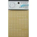 White Lettering On Kraft Alphabet Stickers - Fundamentals - Ruby Rock It