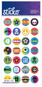 Circle Words & Icons Classic Sticko Stickers