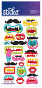 Funny Mouths & Mustaches Classic Sticko Stickers