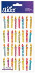 Birthday Candle Classic Sticko Stickers